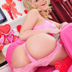 Alexis Texas Pink Lingerie