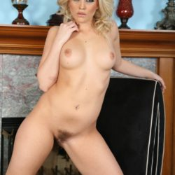 Alexis Texas Nude at Fireplace